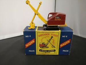 T239-MATCHBOX MAJOR PACK No4 RUSTON BUCYRUS AND ORIGINAL BOX