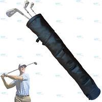 Black  Rx F Leather Golf Club Ball Bag Three Pockets H-34inch D-5.5inch NEW