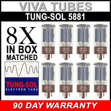 New Plate Current Matched Octet (8) Tung-Sol Reissue 5881 / 6L6WC Vacuum Tubes