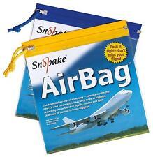 Snopake Airport Bag Clear Transparent Plastic Zip Air Bag Flight Bag - Pack 5