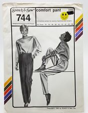 Stretch & Sew Pants Trousers Sewing Pattern 744 Hip 32 - 48 New