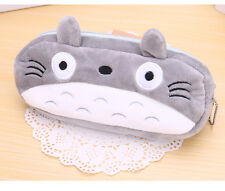 Cartoon Totoro Novelty Cute Pencil Case Purse Cosmetic Pouch Bag Stationery Gray