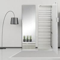 180CM Schuhschrank + Spiegeltür Weiß Schuhregal Schuhkommode Garderobenschrank