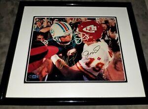 "Dan Marion & Joe Montana ""The Handshake"" Upper Deck Autographed 8x10 Framed"