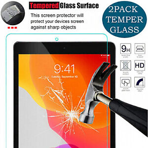 """2 Pack Tempered Glass For iPad 10.2"""" 7/8TH Generation Screen Protector & iPhone"""