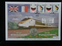 GT BRITAIN 2004 ENTENTE CORDIALE 4v FIRST DAY COVER INC £5 COMMEMORATIVE COIN
