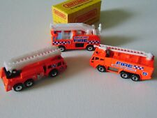 matchbox fire trucks lot of 3. Great condition. 1980s. Never played with. #1