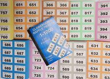 CLOAKROOM TICKETS RAFFLE TOMBOLA BINGO DRAW NUMBERED BOOK 1 - 1000