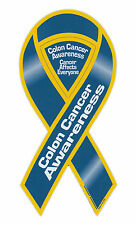 Magnetic Bumper Sticker - Colon Cancer Awareness - Ribbon Shaped Support Magnet