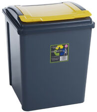 Wham Kitchen Under Counter Recycling Waste Bin 50L - Yellow Lid