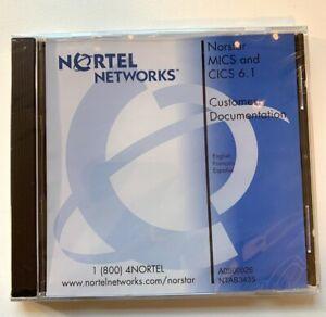 NEW Nortel Norstar CICS MICS 6.1 CD Documentation Client Software NTAB3435