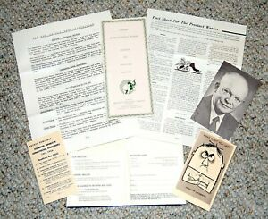 1956 DWIGHT EISENHOWER REPUBLICAN CONVENTION WELCOME PACKAGE button political