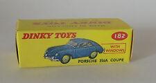 Repro box DINKY Nº 182 porsche 356 a coupé bleu et vert