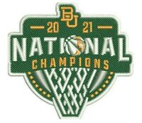 "2021 BAYLOR BEARS 2.5"" PATCH MEN'S NATIONAL CHAMPIONS FINAL FOUR NCAA CHAMPS"