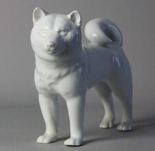 Japanese porcelain Dog Okimono. Signed Enzan  T76