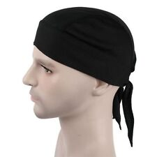 Hot Fitted Solid Color Tied Back Bandana Doo Rag Cycling Skull Cap Men US
