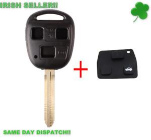 TOYOTA Car Key Remote Key Fob Cover Shell Case 43 Blade Land Cruiser 3 button