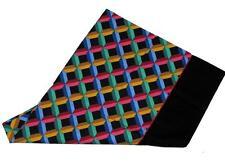 Vtg Bright GEOMETRIC Percale Twin Fitted Sheet & Stnd Pillowcase JP Stevens NWOT