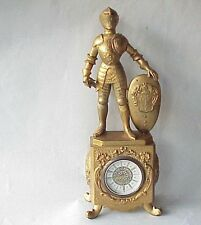 VERY Vintage Midieval Knight in Suit of Armor Clock. Italy