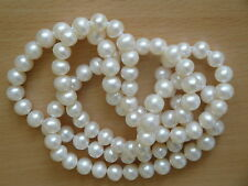 8.5mm AA White Freshwater Cultured Pearl Opera Necklace-nk121