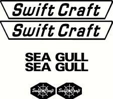 Swift Craft Seagull Set, Fishing Boat Sticker Decal Marine Set of 6