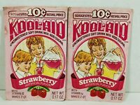 Vintage Lot Of 2 Strawberry Kool-Aid Packets Sealed