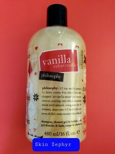 Philosophy Vanilla Velvet Truffle Shampoo Shower Gel Bubble Bath 16oz--FREE SHIP