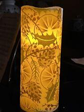 EMMA BRIDGEWATER CHRISTMAS ORANGE WREATH HAND DECOR LED WAX PILLAR CANDLE  25x10