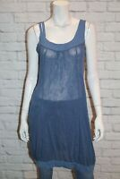 faye browne Brand Blue Mesh Lace Sleeveless Over Tunic Top Size 14 BNWT #SL55