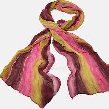 bufanda pañuelo mujer Gradient COLORS Ligero Suave Larga burdeos rosa amarillo