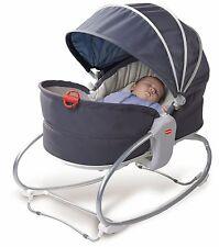 Tiny Love Baby Cozy Rocker Napper Seat Travel Bassinet Play Sleep w/ Hood Grey