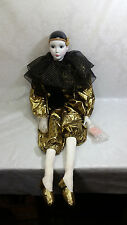 "HUGE Vintage KINGSTATE The Doll Crafter Porcelain Doll 42"" ""French Fancy Clown"""