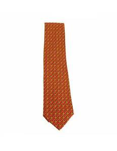 Louis Saeed Monte Carlo Tie Silk Vintage Orange