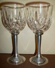 New listing Two Mullingar Pewter and Crystal Goblets Ireland