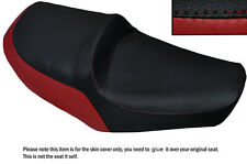 DARK RED & BLACK CUSTOM FITS YAMAHA XS 650 SE DUAL LEATHER SEAT COVER
