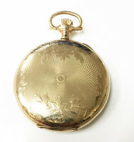 Elgin 14k Gold Filled Wind Up Hunter Case Vintage Pocket Watch 15 Jewels Size 12