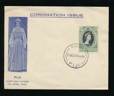 FIJI 1953 CORONATION ILLUSTRATED FDC