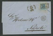 """VIA DI MARE-Lettera da Palermo a Napoli-26 MAR 1874-""""Piroscafi Postali Interno"""""""