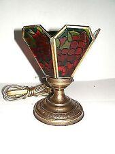 Lampada Abatjour vetro MULTICOLORE Liberty con base in ottone