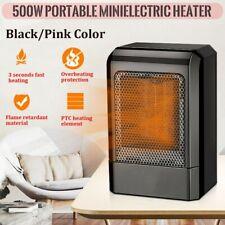 Portable Mini Electric Heater Fan Handy 500W Air Warmer Silent Desk Home/Office
