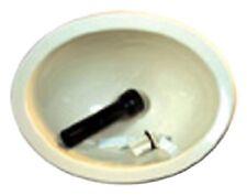 RV Oval Lavatory Sink Bowl 10 x 13in Camper Trailer Kitchen Bathroom w/ Co Plug