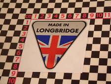 Hecho en Longbridge Etiqueta engomada del cromo-Montego Maestro Metro British Leyland Austin