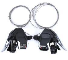 microSHIFT TS83-9 3 x 9 Speed Road Bike Thumb-tap Shifter for Shimano - Black