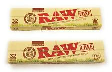 ** 2 Pack** RAW Cone Organic Pre Rolled Cones  1 1/4 size and King Size