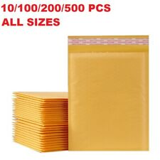 10 100 200 500 PCS lot Bubble Mailers Padded Envelopes Shipping Bags Self Seal