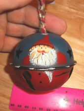 Metal Ball Ornament Santa Claus with marble inside for Jingle Bell effect, 3 in.