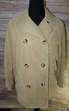 Vtg Tan Corduroy Jacket Women's S fits L Flannel Lined Coat The Limited