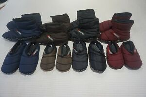BAFFIN CUSH CAMPING SLIPPERS / BOOTY INSULATED BLUE MERLOT BROWN BLACK ADULT KID