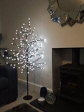 Kingfisher 5ft LED White Blossom Berry Tree Christmas Festive Xmas Decoration