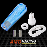 Acrylic Crystal Bubble AT/MT Car Shift Knob Gear Stick Shifter Lever Head Blue